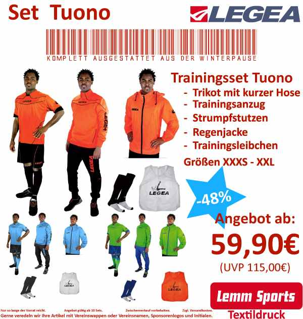 Trainingsset TUONO von LEGEA