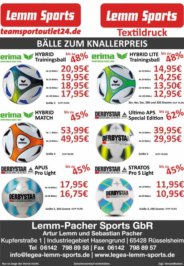 Ballangebote September